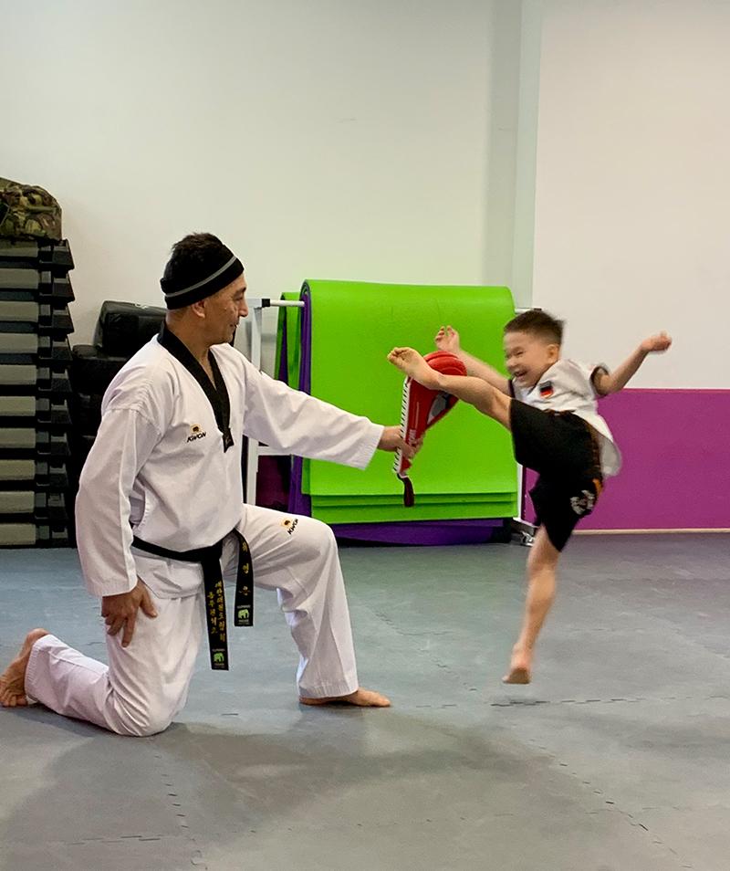 Taekwondo für bewegungsfreudige Kids ab 6 Jahren